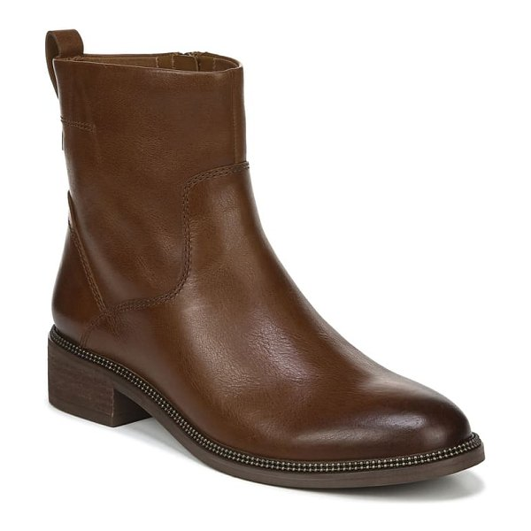 Franco Sarto brindle bootie in cognac leather