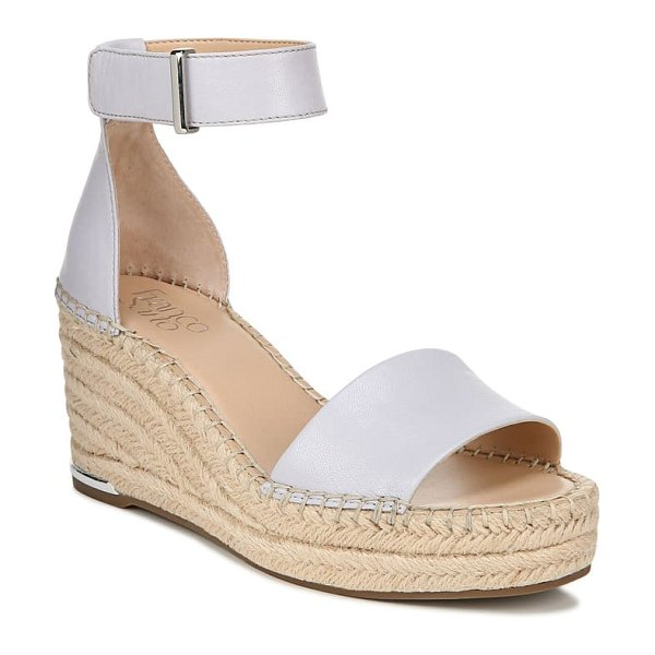 Franco Sarto clemens espadrille wedge sandal in lilac leather