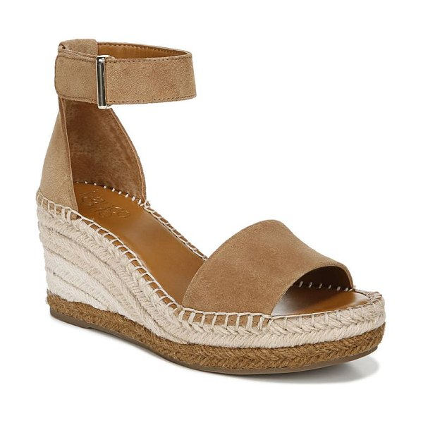Franco Sarto clemens espadrille wedge sandal in toasted barley suede