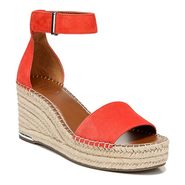 Franco Sarto clemens espadrille wedge sandal in tangelo leather