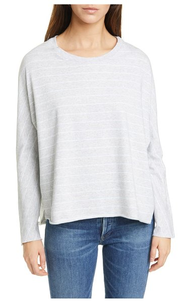 Frank & Eileen continuous sleeve french terry sweatshirt in grym archie blue melange