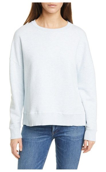 Frank & Eileen fleece sweatshirt in archie blue melange