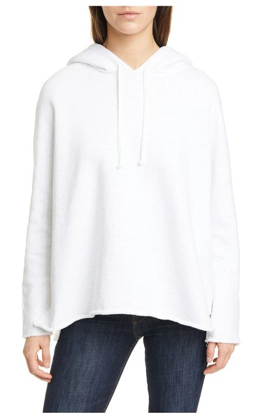 Frank & Eileen relaxed split hem hoodie in white grym squiggle stripe