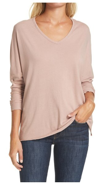 Frank & Eileen v-neck t-shirt in blush