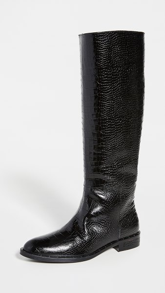 Freda Salvador peak tall boots in black