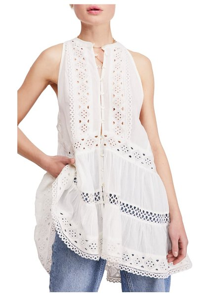 Free People adelaide lace tunic in white