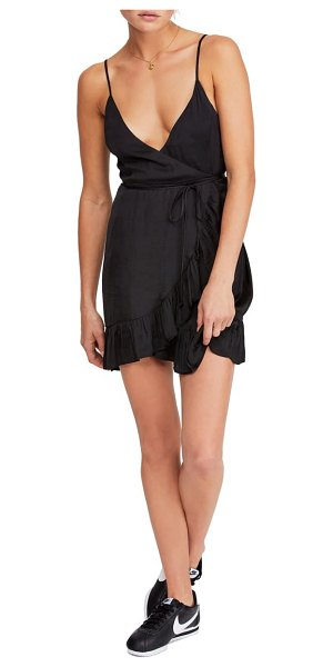 Free People all my love shine wrap minidress in black