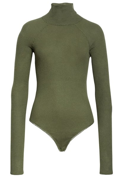 Free People all you want bodysuit in army