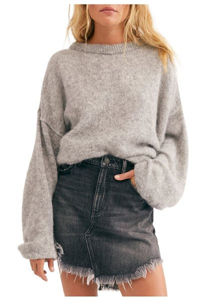 Free People angelic balloon sleeve sweater in grey