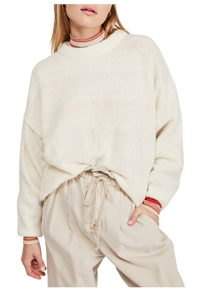 Free People angelic balloon sleeve sweater in ivory