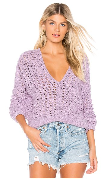 Free People best of you sweater in purple