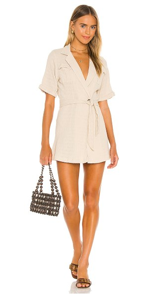Free People clementine mini dress in natural