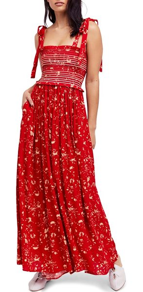 fb02b2f3c30a Free People Color My World Floral Jumpsuit in Red