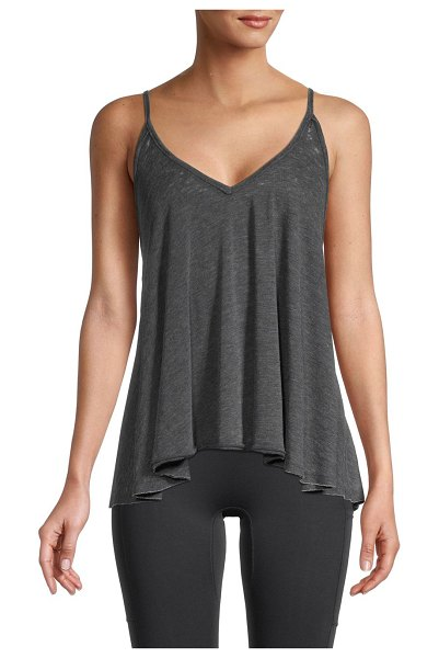 Free People Cotton-Blend Tank Top in black