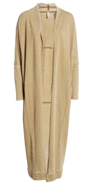 Free People cozy girl longline cardigan in olive army