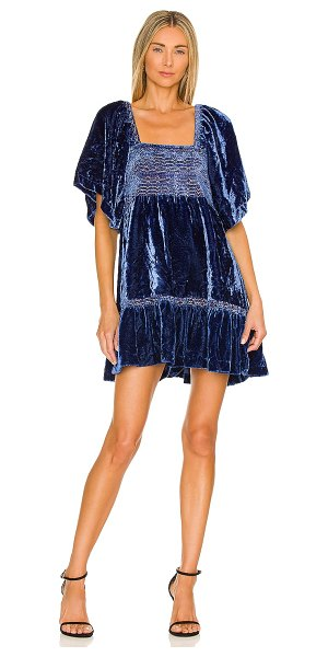 Free People easy to love mini dress in shaded lake