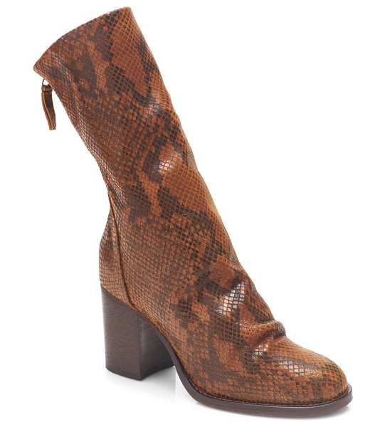 Free People elle boot in brown snake print leather