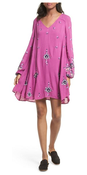 Free People embroidered minidress in lilac