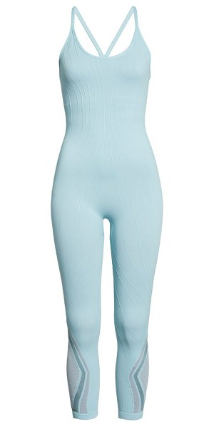 Free People FP Movement the essence jumpsuit in teal combo