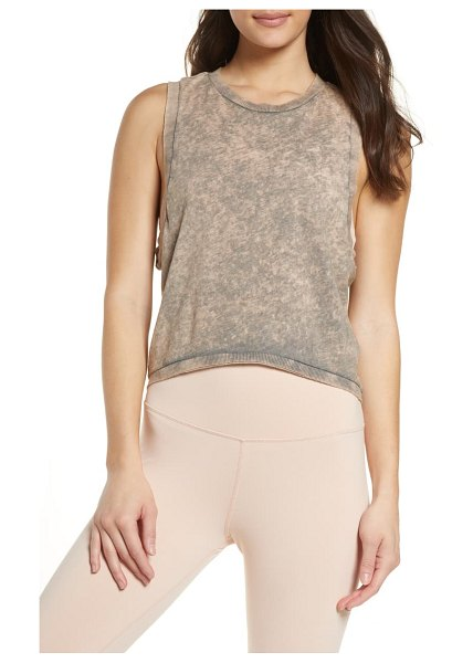 Free People FP Movement washed love crop tank top in olive
