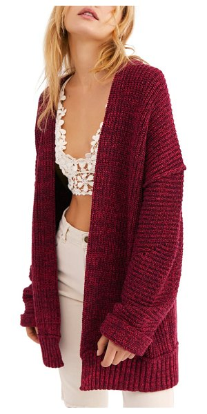 Free People high hopes cardigan in wine