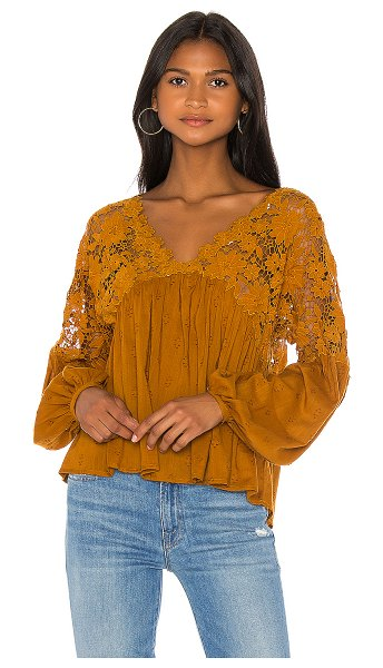 Free People lina lace top in bronze