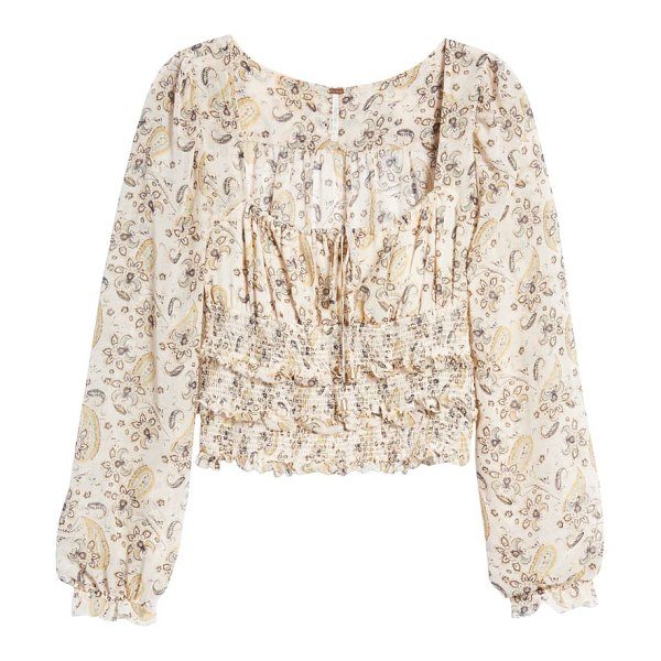 Free People lolita floral print top in light combo