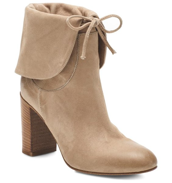 Free People mila foldover boot in light grey suede