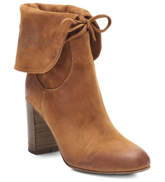 Free People mila foldover boot in tan suede