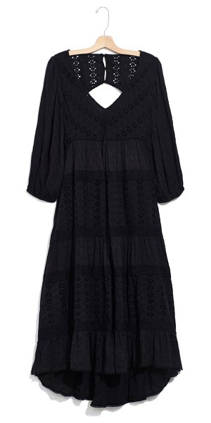 Free People mockingbird high/low dress in black