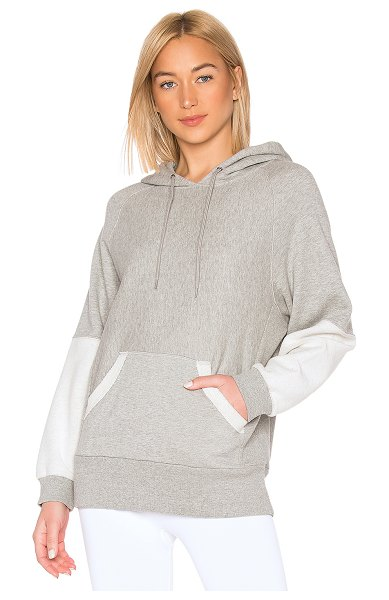 Free People movement hawking hoodie in grey combo