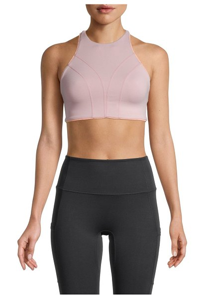 FREE PEOPLE MOVEMENT Strappy Sports Bra in pink pearl