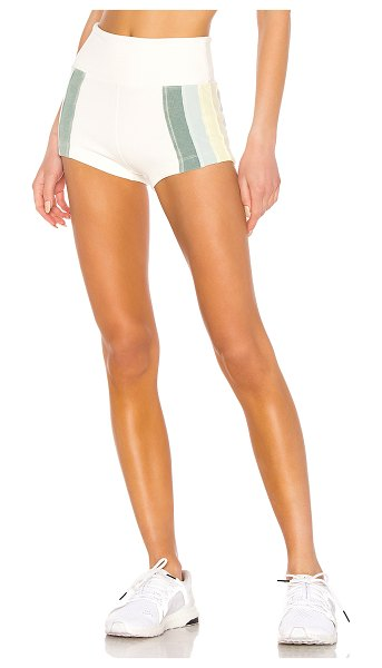 Free People Movement Surfer Rosa Short in white - 91% cotton 9% spandex. Ribbed fabric. Elasticized waist....