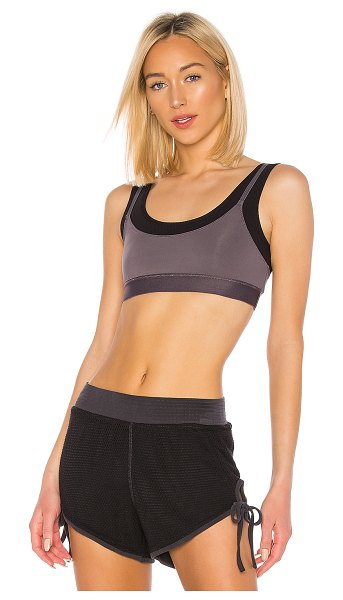 Free People Movement Two Become One Sports Bra in charcoal - Self & Lining: 81% nylon 19% spandexTrim: 72% nylon 28%...
