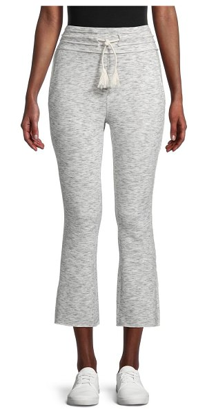 FREE PEOPLE MOVEMENT Wild Side Cropped Flare Jogging Pants in white