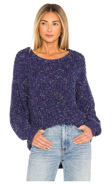 Free People neon lights pullover in midnight aura combo