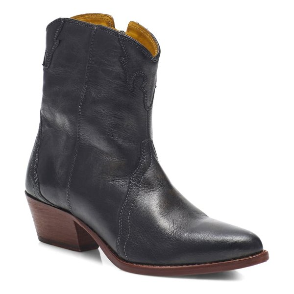 Free People new frontier western bootie in carbon leather