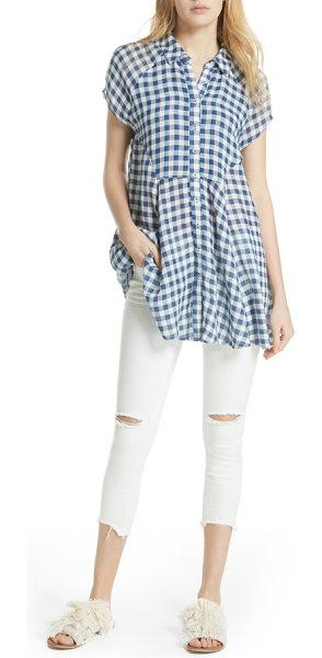 ddcf589aeda Free People New Spring Love Tunic in Blue | Shopstasy