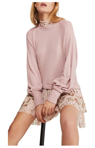 Free People opposite attraction long sleeve dress in pink