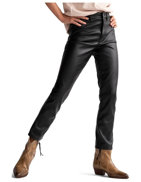 Free People rebel at heart faux leather high waist skinny jeans in black