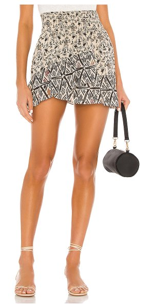Free People riviera mini skirt in neutral combo