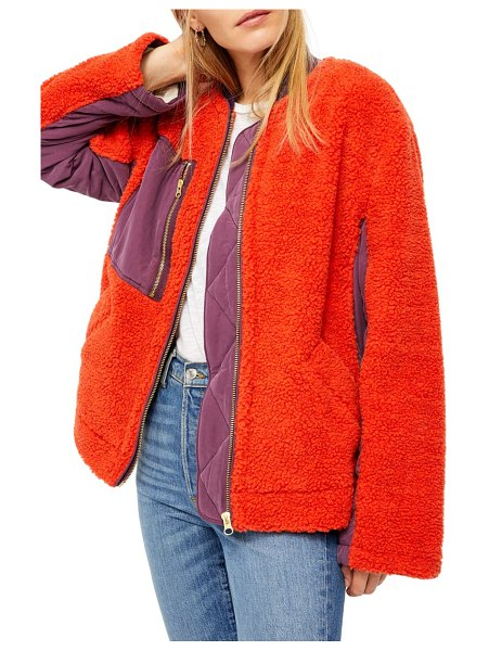 Free People rivington jacket in red