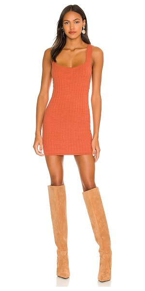 Free People short and sweet mini dress in ambered coral