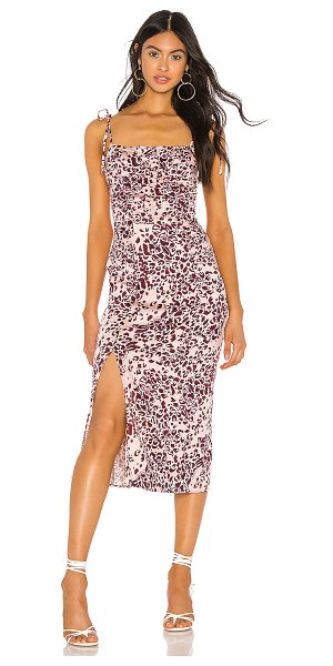 Free People show stopper midi dress in pink