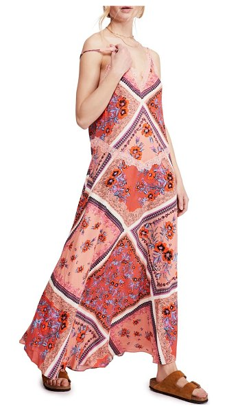 Free People stevie print maxi dress in pink