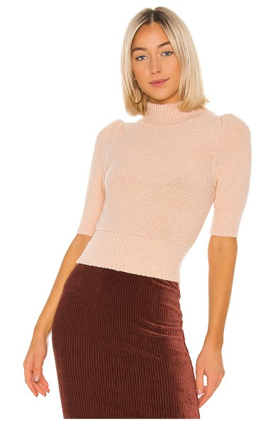 Free People sugar pie sweater in rose