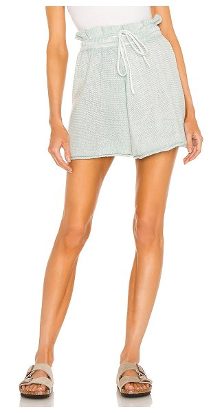 Free People summertime blues knit short in hint of sky