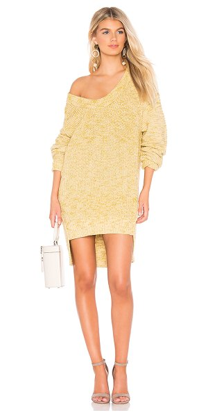 Free People Sunday Sweater in yellow - Acrylic blend. Hand wash cold. Knit fabric. Ribbed trim....