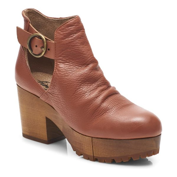 Free People suri clog bootie in sienna leather