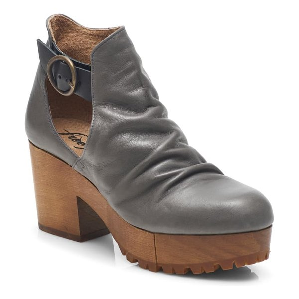 Free People suri clog bootie in charcoal leather